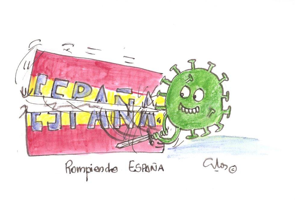 La viñeta de Villanueva, rompiendo España.