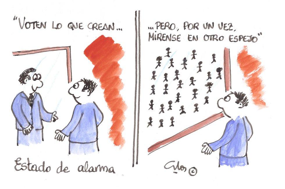 La viñeta de Villanueva, el espejo de la gente.