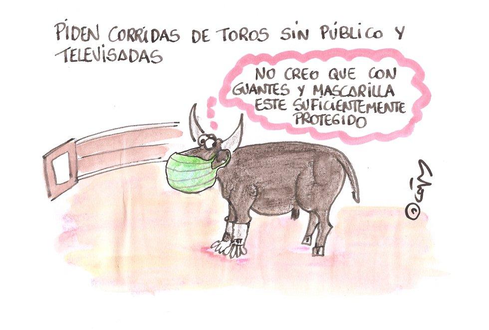 La viñeta de Villanueva, los toros.