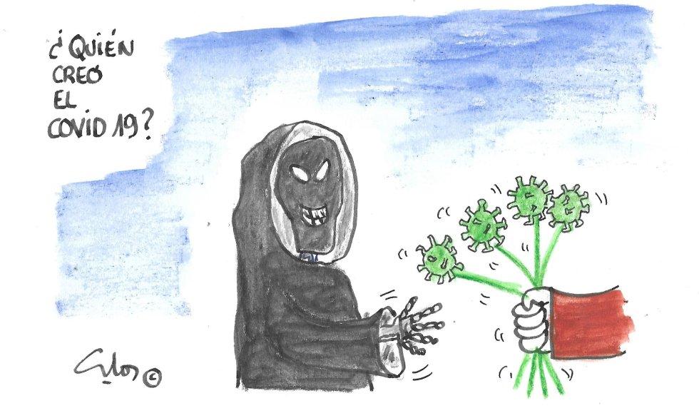 la viñeta de Villanueva, las flores del mal.