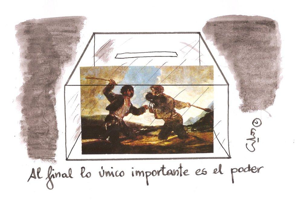 La viñeta de Villanueva, sólo el poder