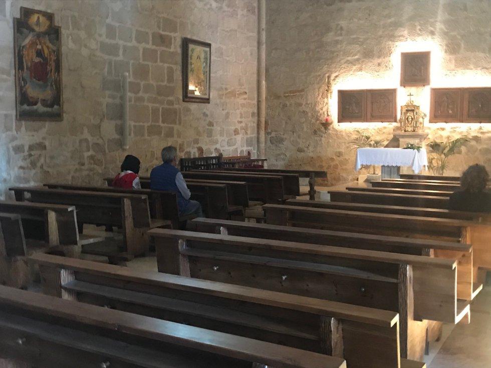 El interior de la Iglesia de la Asunción, durante el día 1 de la Fase 1