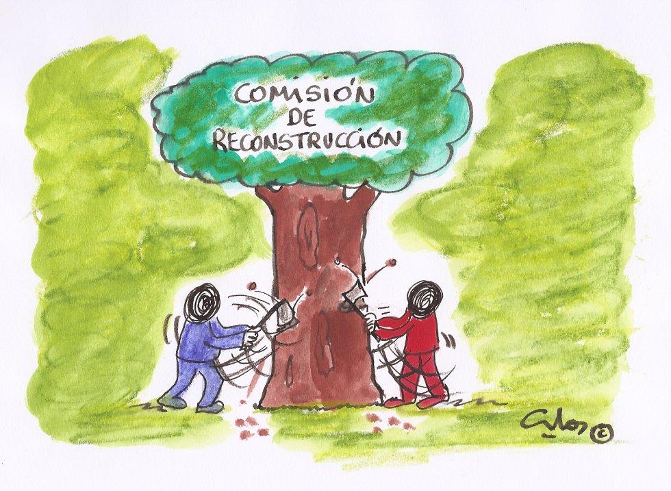 La viñeta de Villanueva, Comisión de Reconstrucción.