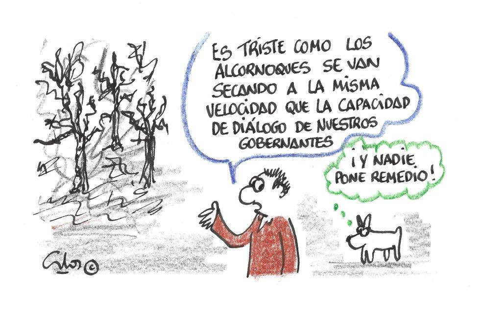 La viñeta de Villanueva, la seca del alcornoque.