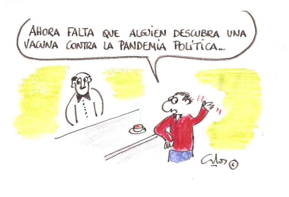 La viñeta de Villanueva, pandemia política.