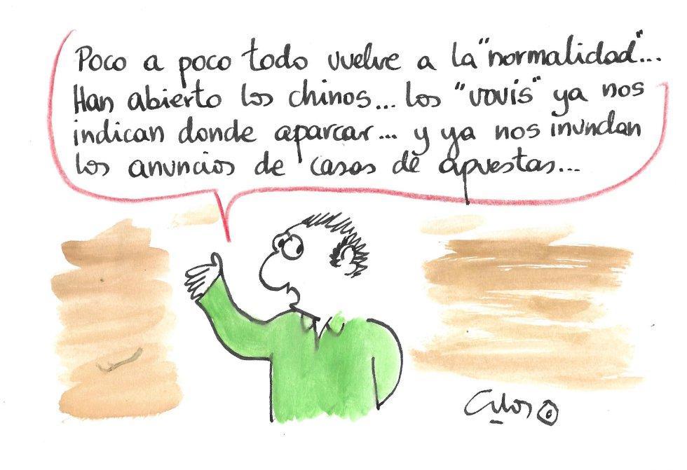 La viñeta de Villanueva, nueva normalidad.