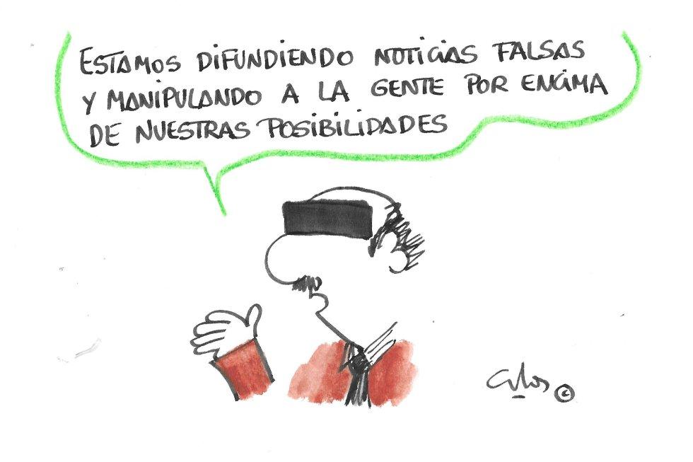 La viñeta de Villanueva, manipulación y noticias falsas.