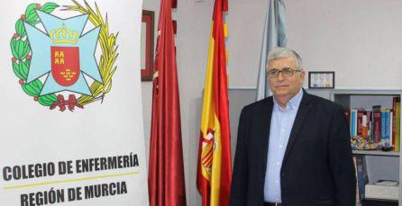 Manuel García Sánchez, presidente del Colegio de Enfermería de la Región de Murcia (COEMUR). Foto archivo