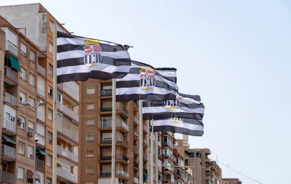Banderas del F.C Cartagena.