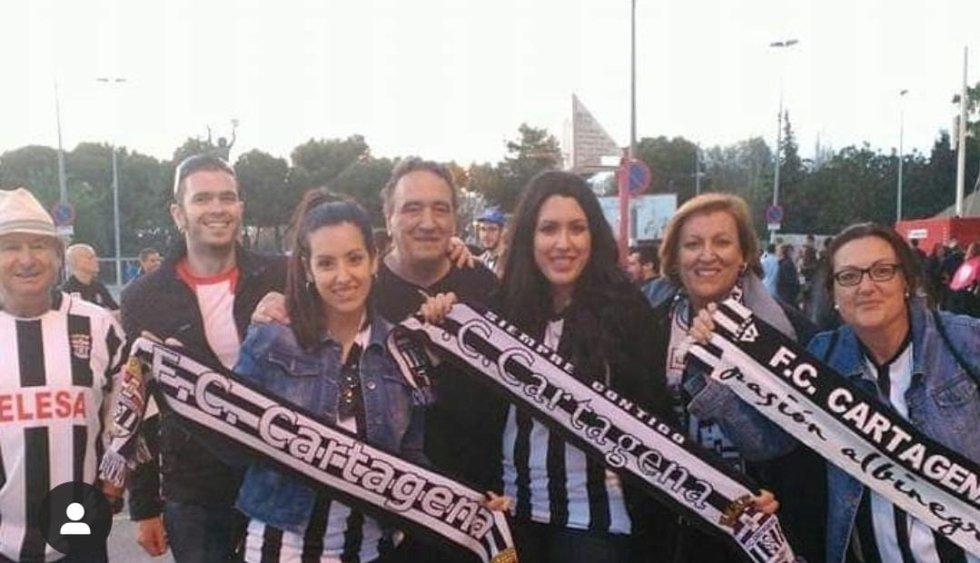 Aficionados del F.C Cartagena.