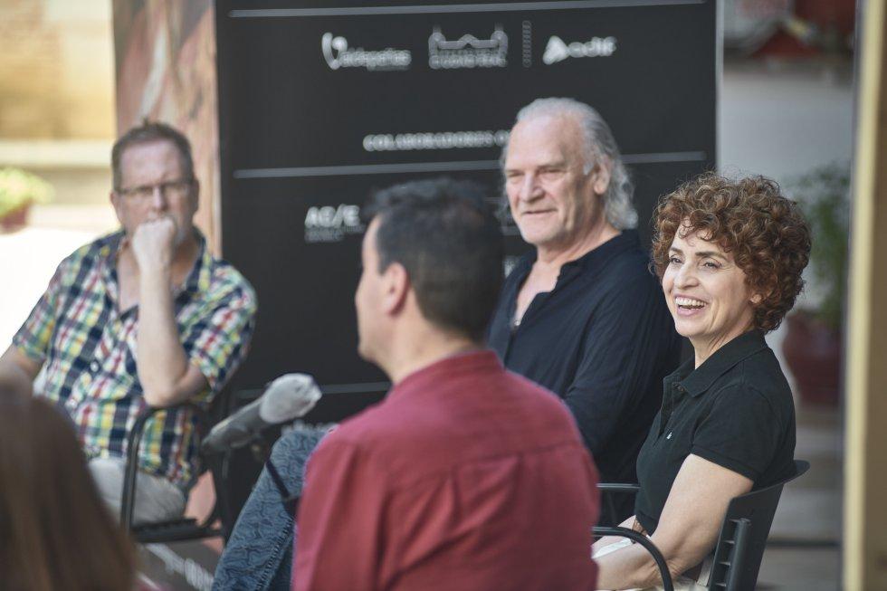 """Lluís Homar y Adriana Ozores en la presentación de """"Alma y palabra"""""""