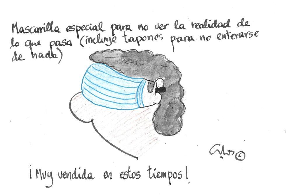 La viñeta de Villanueva, mascarilla visual.