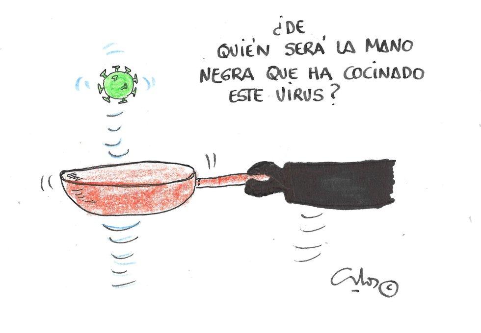 La viñeta de Villanueva, mano negra.