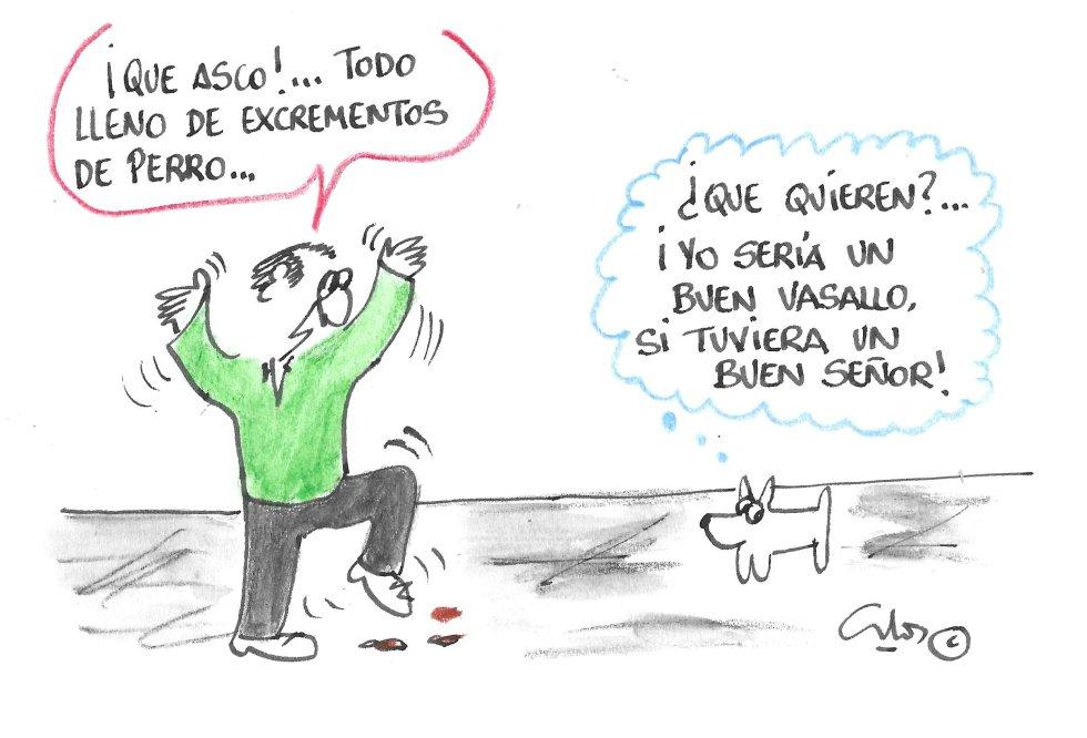 La viñeta de Villanueva, el dueño del perro.
