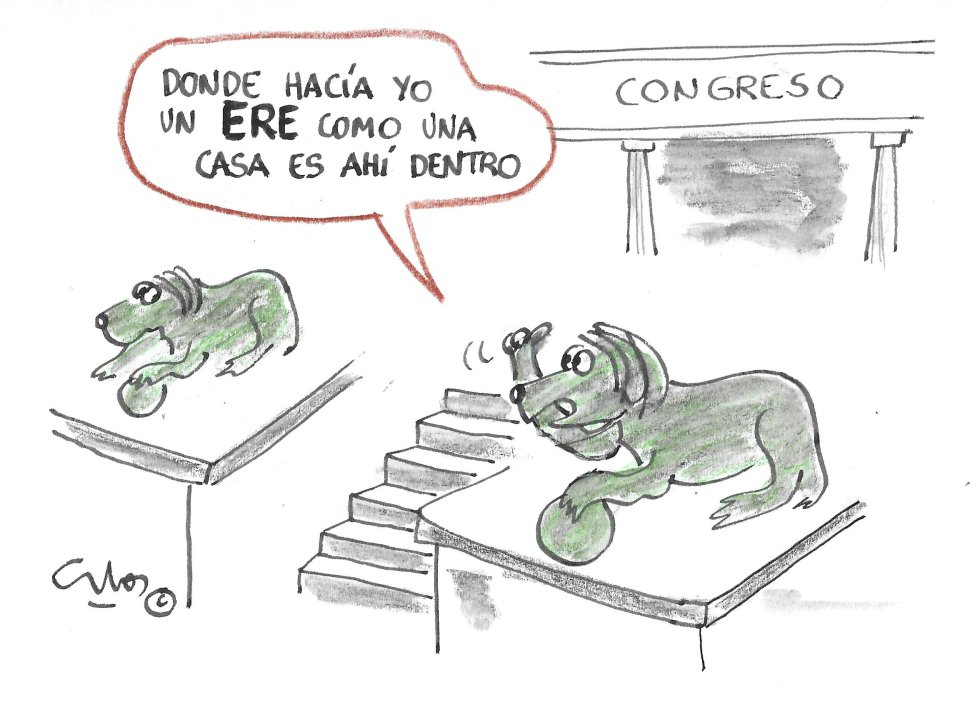 La viñeta de Villanueva, ERE en el Congreso.