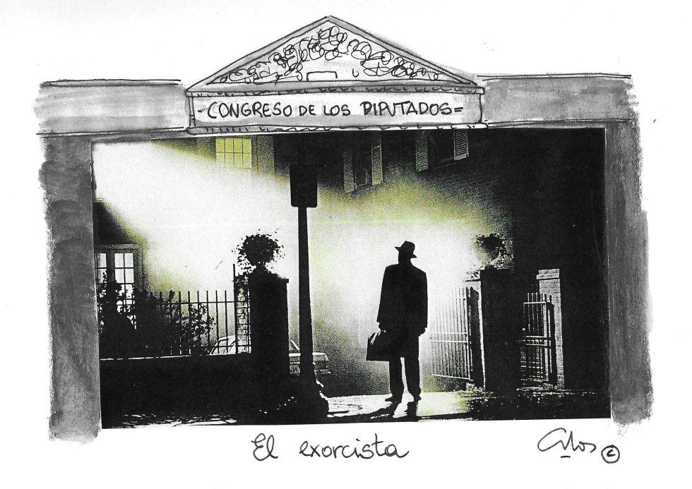 La viñeta de Villanueva, el exorcista.