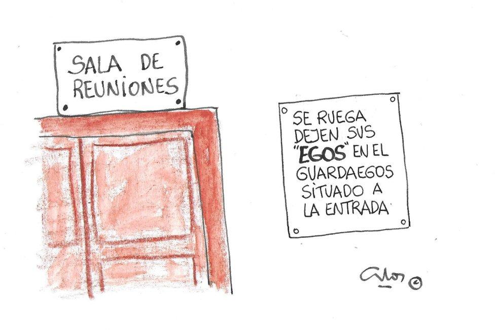 La viñeta de Villanueva, egos.