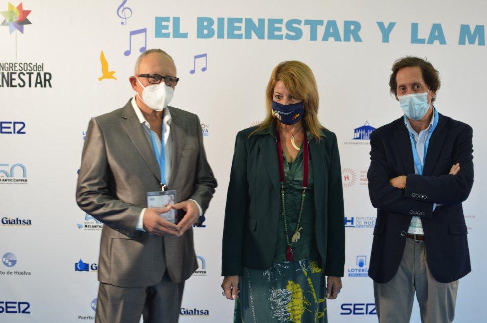 Miguel Doña, Pilar Miranda y Víctor Ortiz