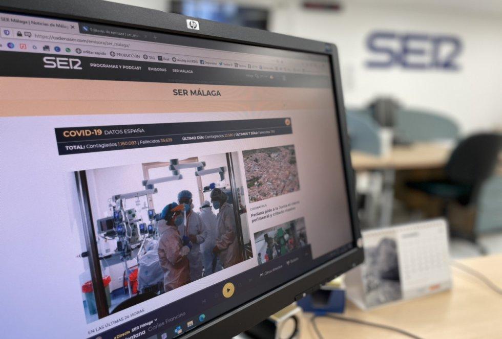 La web de SER Málaga se elabora en la propia redacción de la emisora