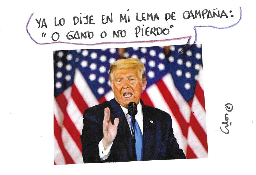La viñeta de Villanueva, Trump.