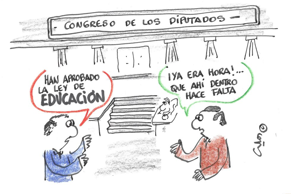 La viñeta de Villanueva, educación.