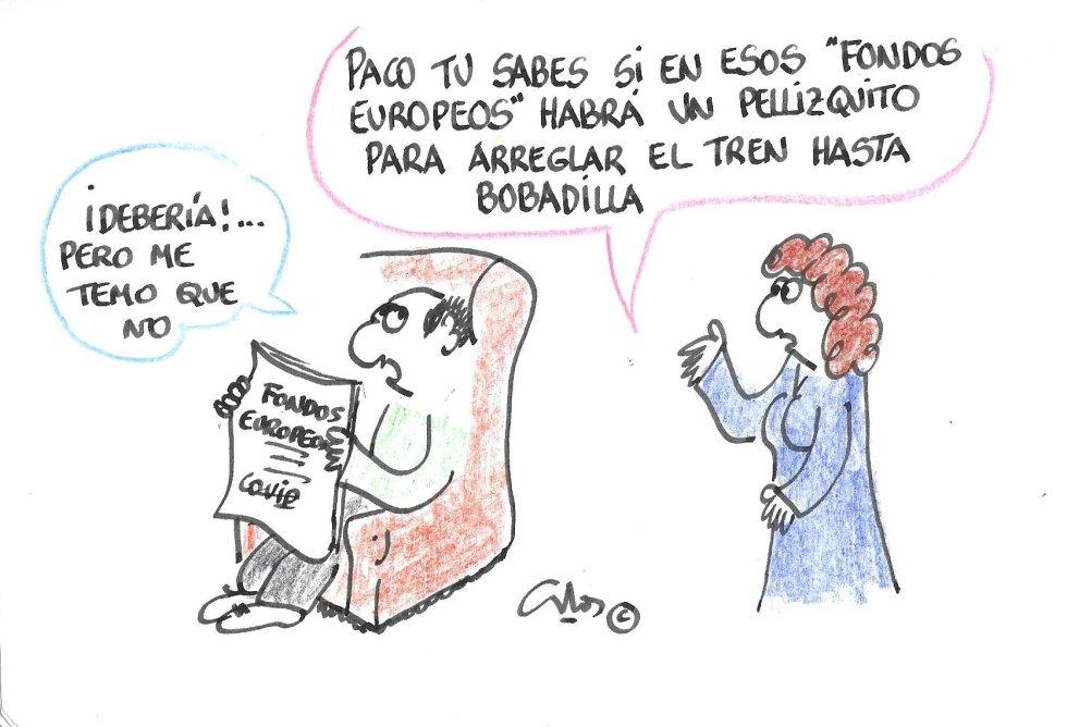 La viñeta de Villanueva, fondos europeos.
