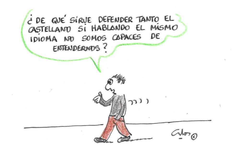 La viñeta de Villanueva, castellano.