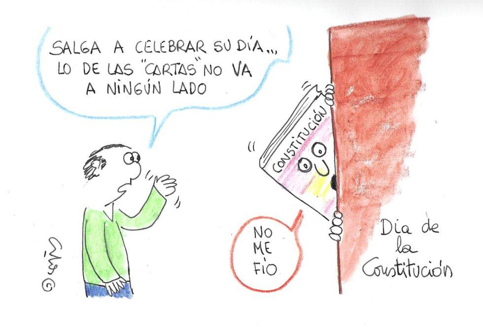 La viñeta de Villanueva, Día de la Constitución.