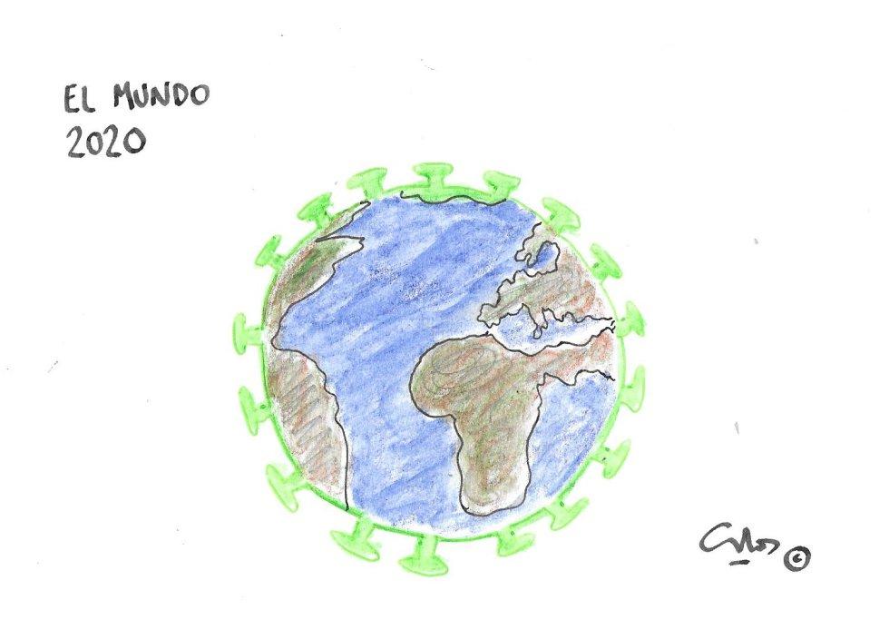 La viñeta de Villanueva, el mundo 2020