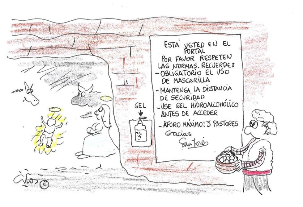La viñeta de Villanueva, en el portal de Belén