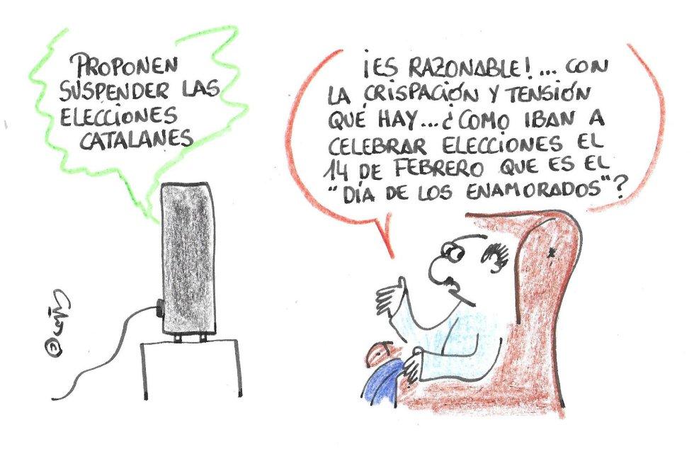 La viñeta de Villanueva, elecciones catalanas