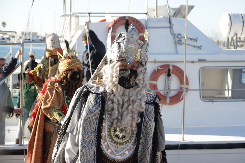 Imagen de la llegada de los Reyes Magos