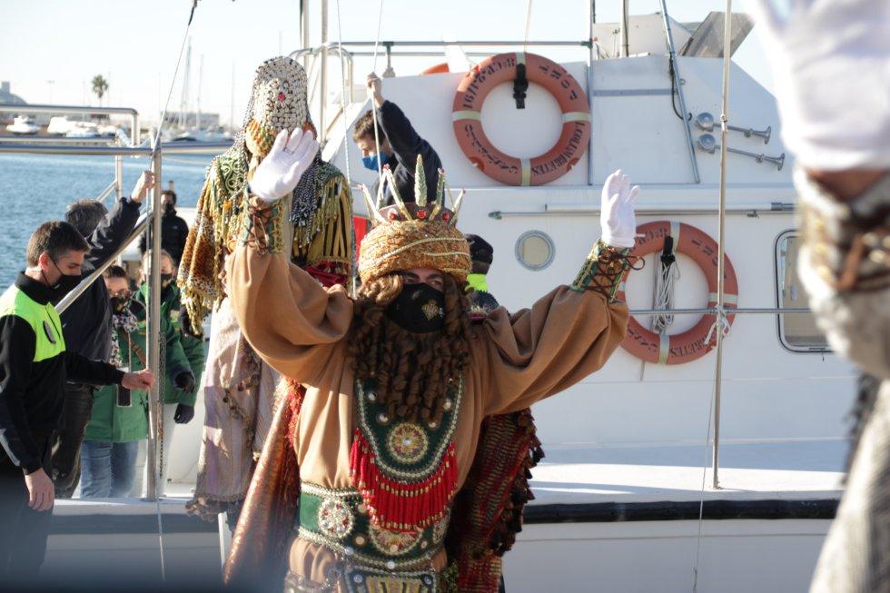 Imagen de la llegada de los Reyes