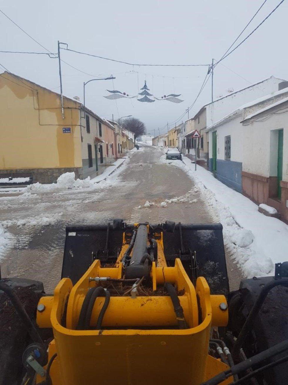 Nieve en las calles de Albacete