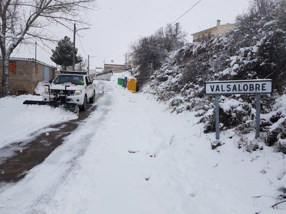 Nevadas en Cuenca