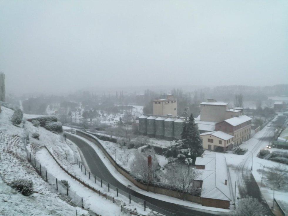 Las instantáneas de la nevada en Benavente