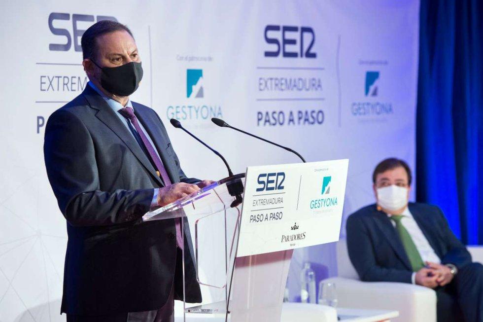 El ministro José Luis Ábalos durante si intervención