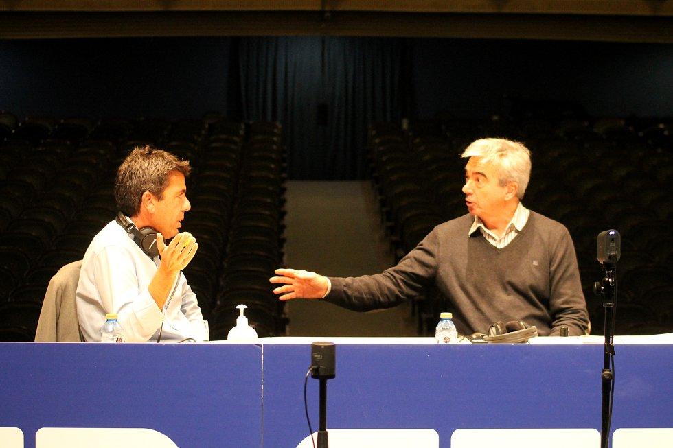 Carlos Mazón, presidente de la Diputación Provincial de Alicante, y Carles Francino