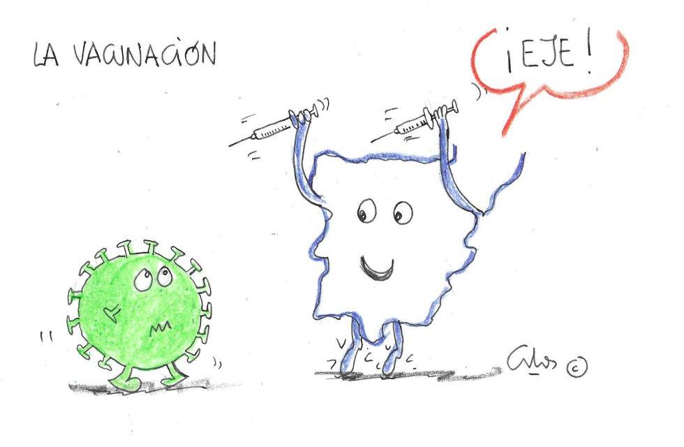 La viñeta de Villanueva, la vacunación