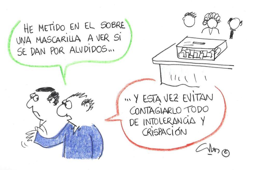 La viñeta de Villanueva, mascarilla electoral