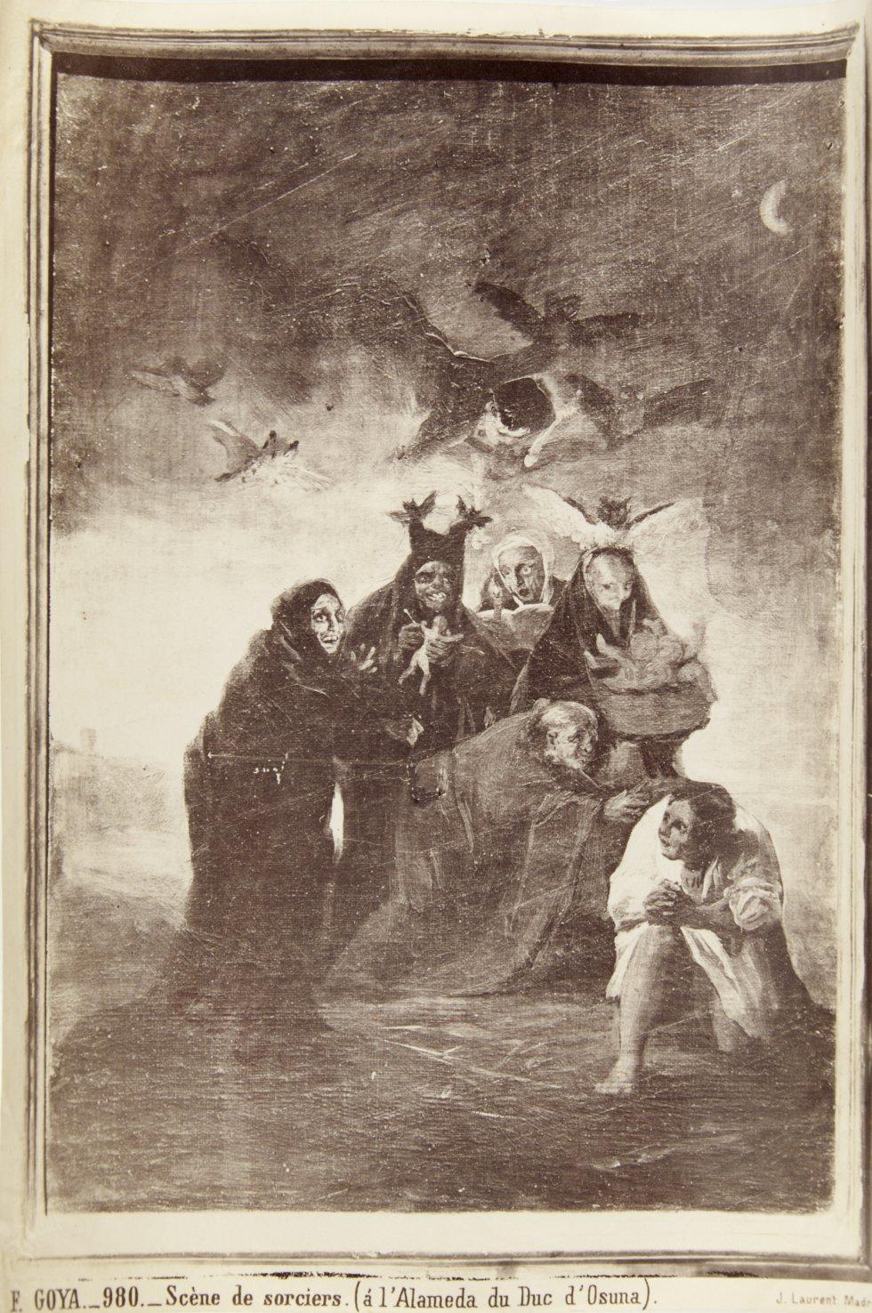 F. GOYA._980._Scène de sorciers. (á l´Alameda du Duc d`Osuna). Museo Nacional del Romanticismo