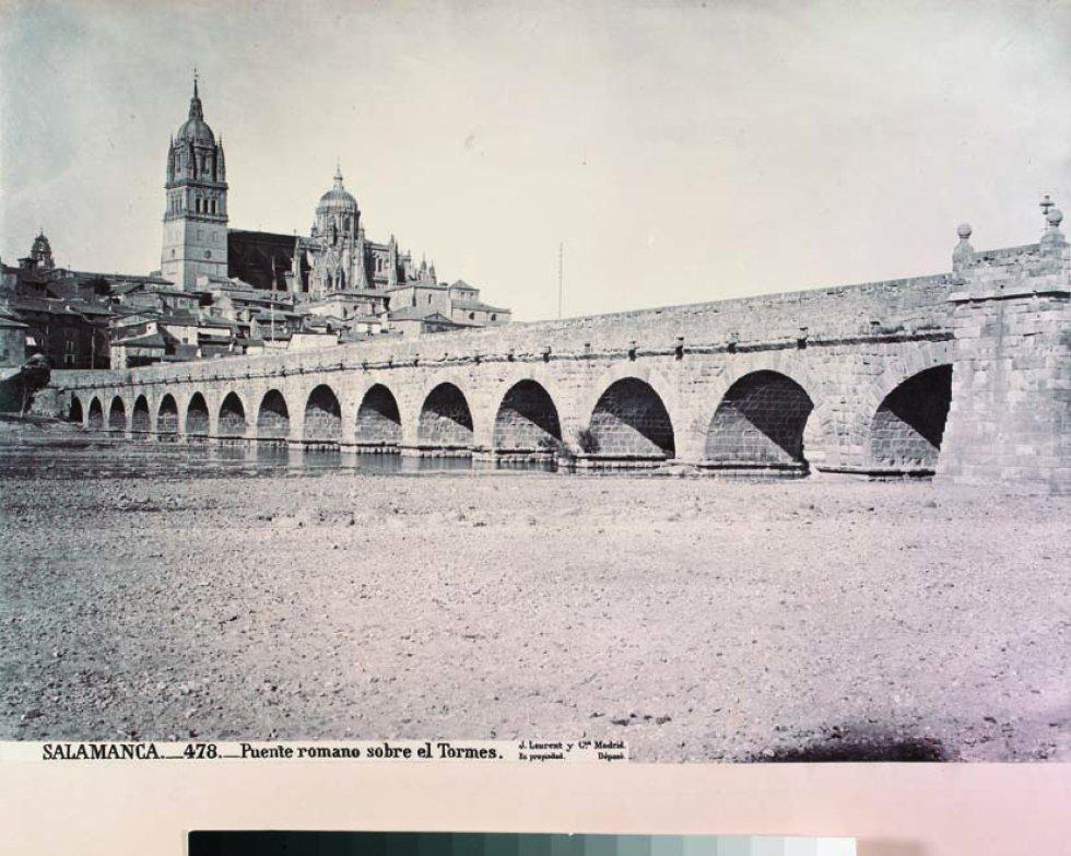 SALAMANCA._478._Puente romano sobre el Tormes. Museo de Salamanca