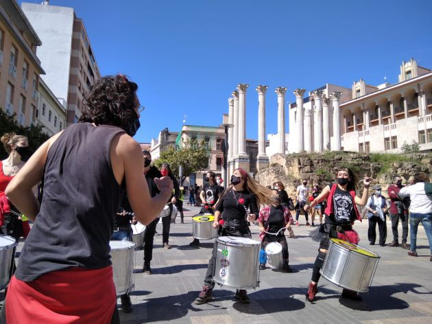 Protesta en Córdoba del sector de la cultura para pedir su reactivación