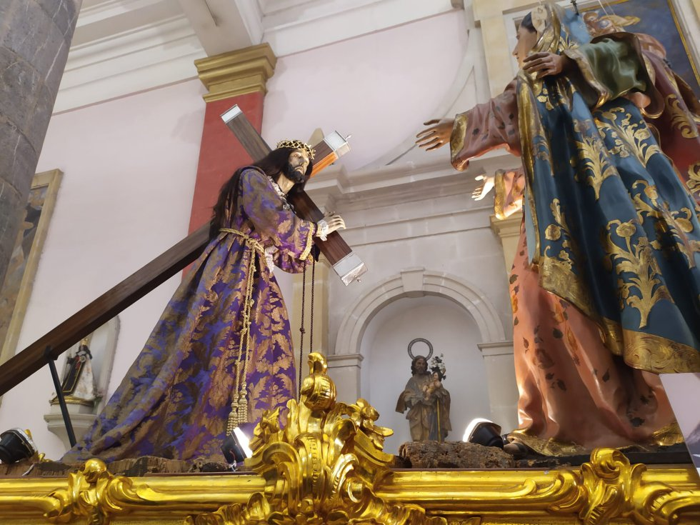 'El Encuentro' es otra de los tronos que forma parte de la Cofradía del Cristo del Perdón