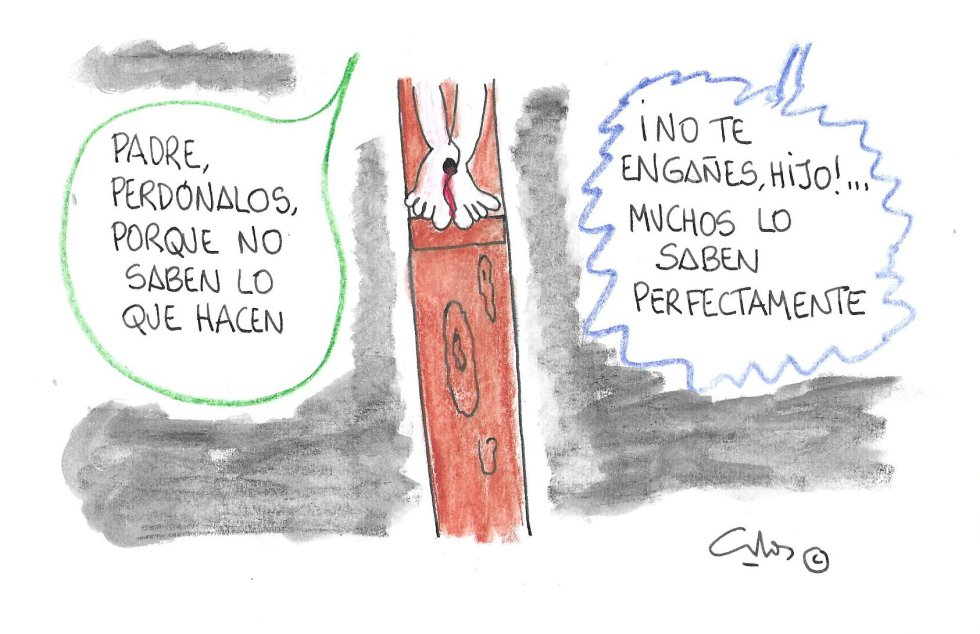 La viñeta de Villanueva,Semana Santa, la crucifixión