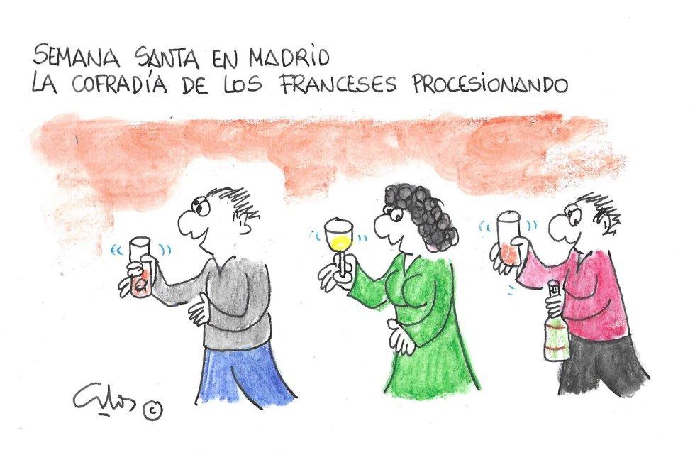La viñeta de Villanueva, Semana Santa en Madrid