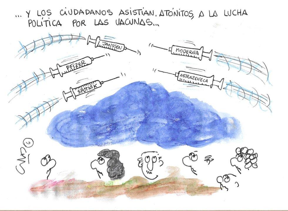 La viñeta de Villanueva, guerra de vacunas