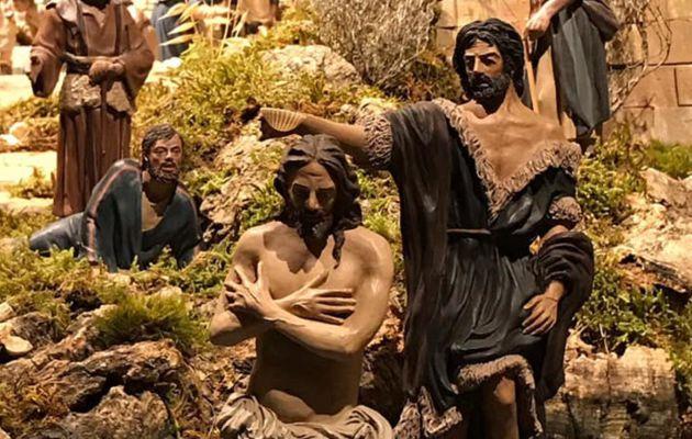 Baptism scene.