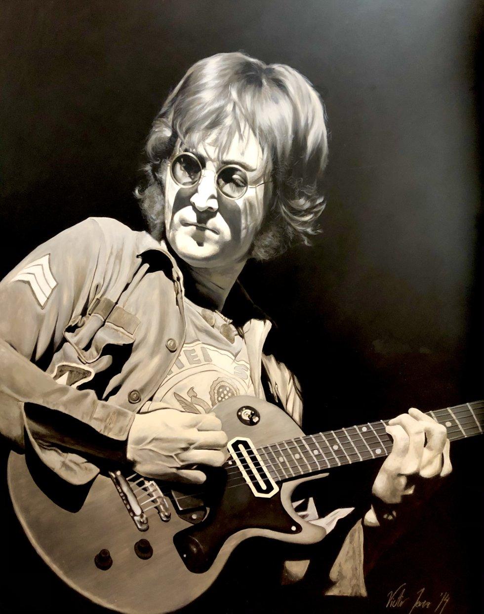 John Lennon en el pincel de Víctor Jerez
