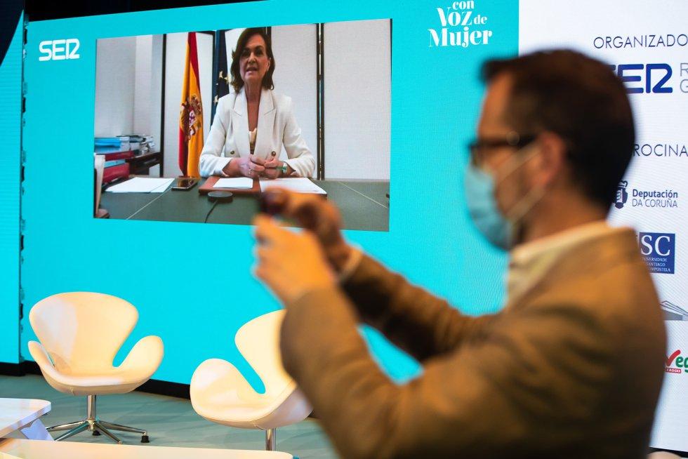 La vicepresidenta primera del gobierno, Carmen Calvo, ha clausurado las jornadas por videoconferencia.